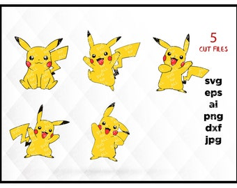 Pikachu svg Pokemon SVG Pokemon go svg vector files for Cricut Silhouette, pokemon png, pokemon clipart, kids svg, pokemon eps, pokemon jpg