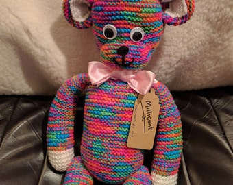 Knitted Collectable Bear