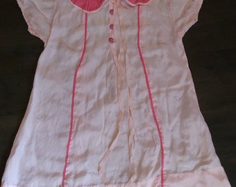 Toddler/Large Doll Silk(?) Dress