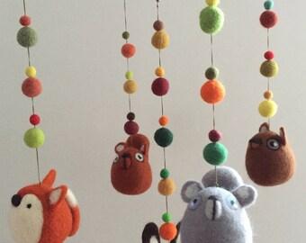 Needle Felted Mobile Nursery Decoration