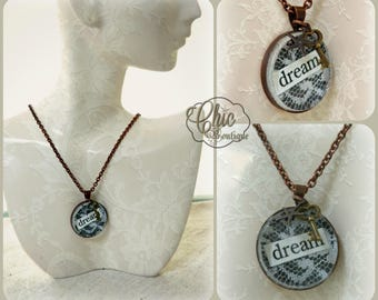 Shabby Chic Copper & Lace Dream Necklace
