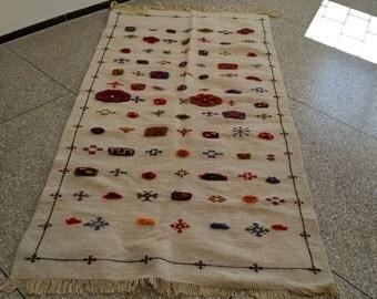 Moroccan Rug Carpet Kilim Kelim Berber Handmade Wooven Atlas Wool Authentic