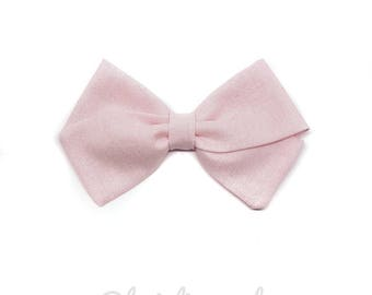 PALE pink baby bow headband or Barrette child
