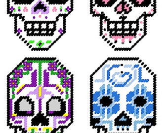Sugar Skulls Plastic Canvas patterns~TC Original
