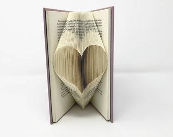 Folded Book Art, Heart Art, Love Heart, Love Art, Heart Shaped, Romantic Gift, Engagement Gift, Heart Decor, Love Decor, Home Office Decor