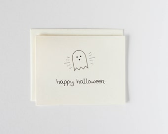 Happy Halloween Ghost Card - Oh Goodness Paper Co