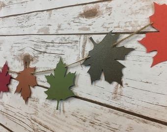 Fall Leaf Garland | Falling Leaves | Welcome Fall | Autumn Banner | Fall Backdrop | Fall Decorations