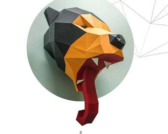 Sun bear    pepakura papercraft sculpture paperfreak