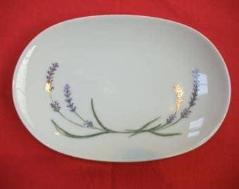 """Ravier in Limoges porcelain """"Lavender"""""""