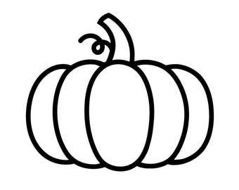 Tall Pumpkin Outline Drawing