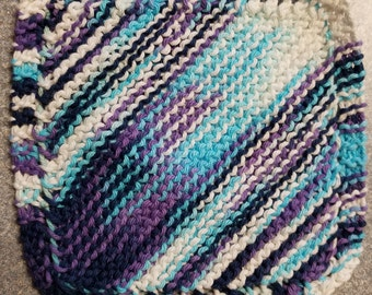 Handmade Knitted Dishcloth - Moondance