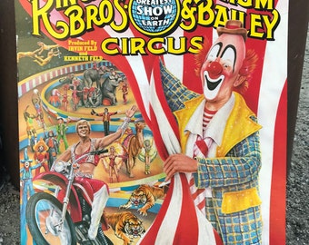 Vintage Circus poster Ringling Bros and Barnum & Bailey poster