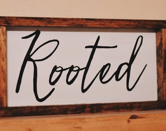 Wooden One Word Signs (Custom)