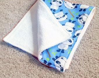 Panda Burp Cloth | Baby Shower Gift | Baby Boy Gift | Baby Girl Gift | Baby Gift | Drool Bib | Panda Gift | New Mom Gift | Burp Cloth Set