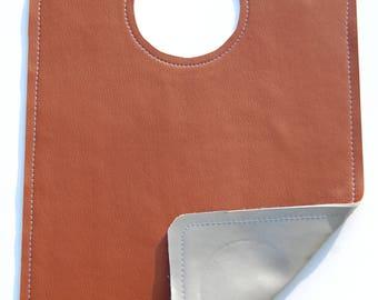 Faux Leather Reversible Bib