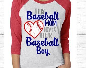 This Baseball Mom Loves her Baseball Boy SVG, Mama Loves her Baseball Boy SVG, Baseball Mom SVG