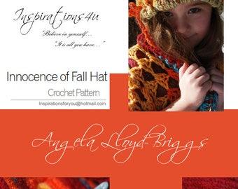 Innocence Of Fall Hat, Crochet Patterns, Hat Patterns, Children's Hat Patterns, Knitting Patterns, Crochet Children's Wear