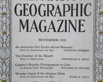 National Geographic Magazine November 1938  Cat Champions