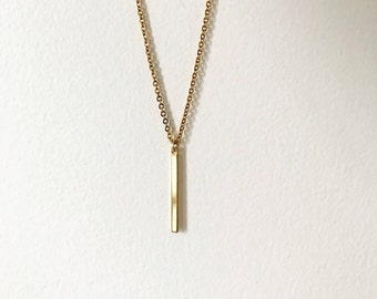 Vertical Bar Necklace
