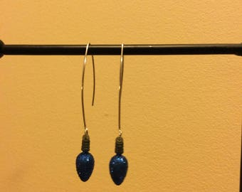 Holiday Lights Earrings - Blue by GetNoticedDesigns