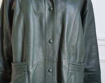 80's leather coat