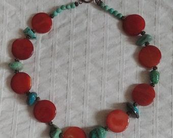 Carnelian Turquoise Necklace