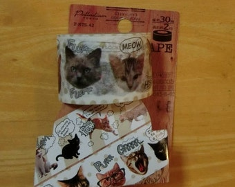 Washi masking tape (cat)
