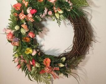 Spring Wreath / Grapevine Spring Wreath