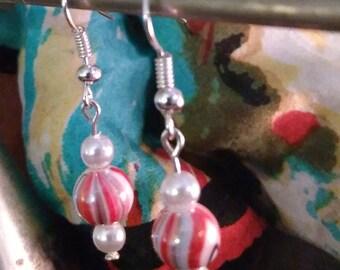 Peppermint Party earrings