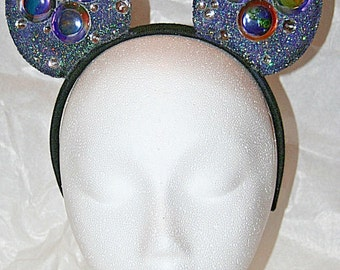 Disney Custom Inspired Mickey Mouse Ears Outer Space Galaxy Headband