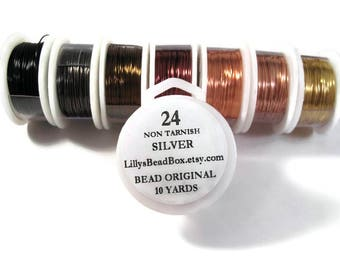 24 Gauge Wire for Making Jewelry, Non Tarnish Wire, Wire Wrapping Supplies