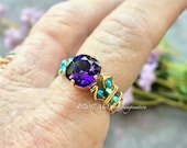 Purple Velvet & Blue Zirc...