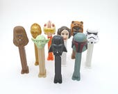 Personalized Star Wars Miniature Toy Gift for Kids, Vintage PEZ Dispenser & Candy, Boba Fett, Princess Leia, Ewok, Yoda, Darth Vader, C-3PO