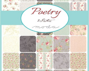 Poetry Fat Quarter Bundle by 3 Sisters for Moda