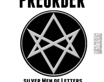 PREORDER - Silver Men Of Letters hard Enamel Pin - Ships early/mid February