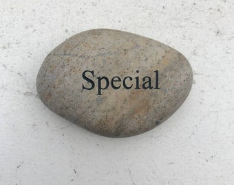 Special Engraved Beach Pebble Stone