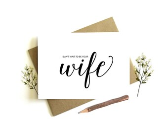 I Can't Wait to be Your Wife Card - Wedding Day Card, To My Husband, Husband Wedding Card, Groom Wedding Day, To My Groom, Wedding Party