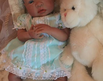 From the Biracial Shyann Kit  Reborn Baby Doll 19 inch Baby Girl Darla Complete Baby Doll
