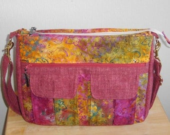 Crossbody Bag, Large Pocketed Purse, Handmade Purse