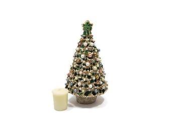 mosaic christmas tree stained glass christmas tree beaded christmas tree 3 d christmas - Glass Christmas Tree