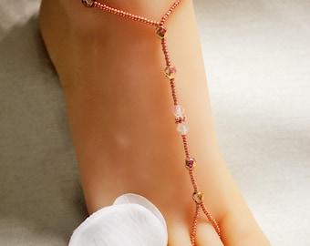 Foot Jewelry  Swarovski Barefoot Sandals Foot Jewelry Beach Wedding Barefoot Sandals Anklet