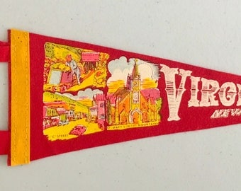 Vintage 'Virginia City Nevada, C Street' Mini Pennant