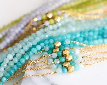 Beaded Chain Bracelet - Choose your color