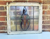 RESERVED for Lori: Vintage Stained Glass Window