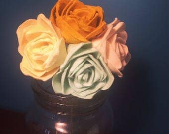 Custom Felt Rose Bouquet, Bridal, Home Decor