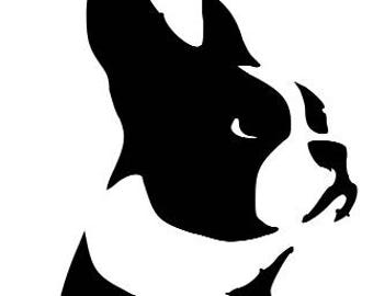 Custom Boston Terrier Decal