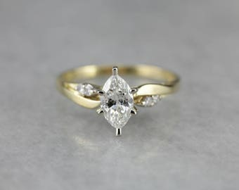 Stunning Marquise Diamond Ring, Engagement Ring, Modern Engagement ZN18CR7X-N