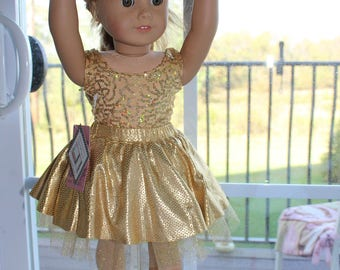 Golden Ballet Rehearsal Outfit