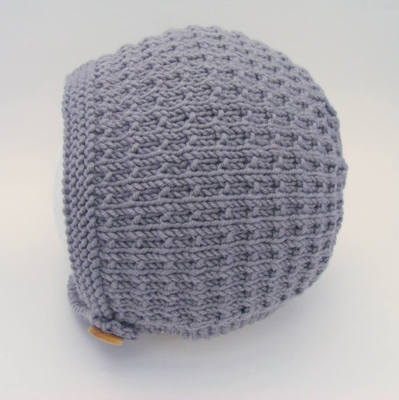 Tibbie Baby Bonnet in Grey - Sizes From Newborn to Age 4 years