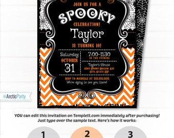Halloween Invitation - Halloween Party Invitations - Halloween Birthday Invitations - Kids Halloween Party Ideas - INSTANT ACCESS!
